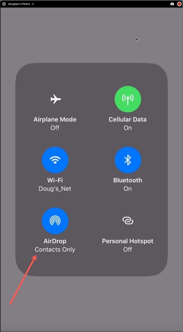 AirDrop Screen