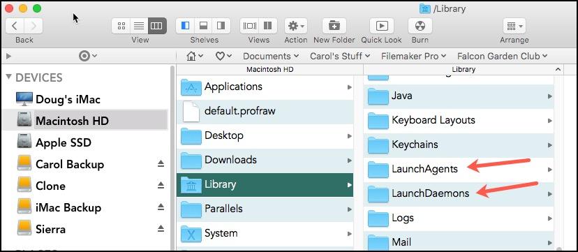 Launch Agent Folders