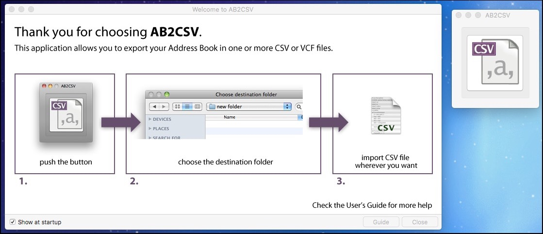 AB2CSV Main Window