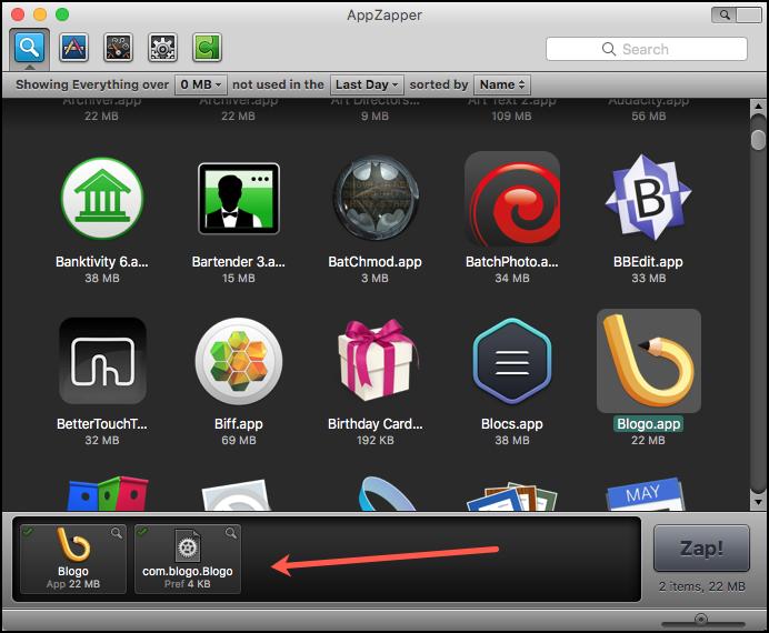 App Zapper Window