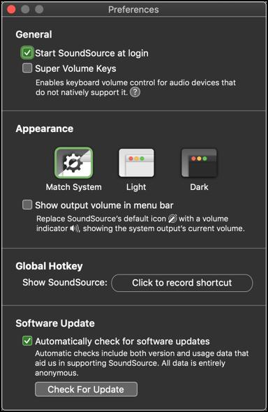 SoundSource Preferences