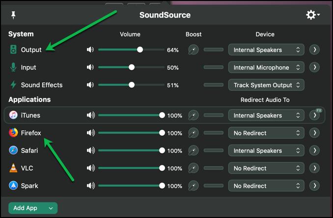 SoundSource Main Window