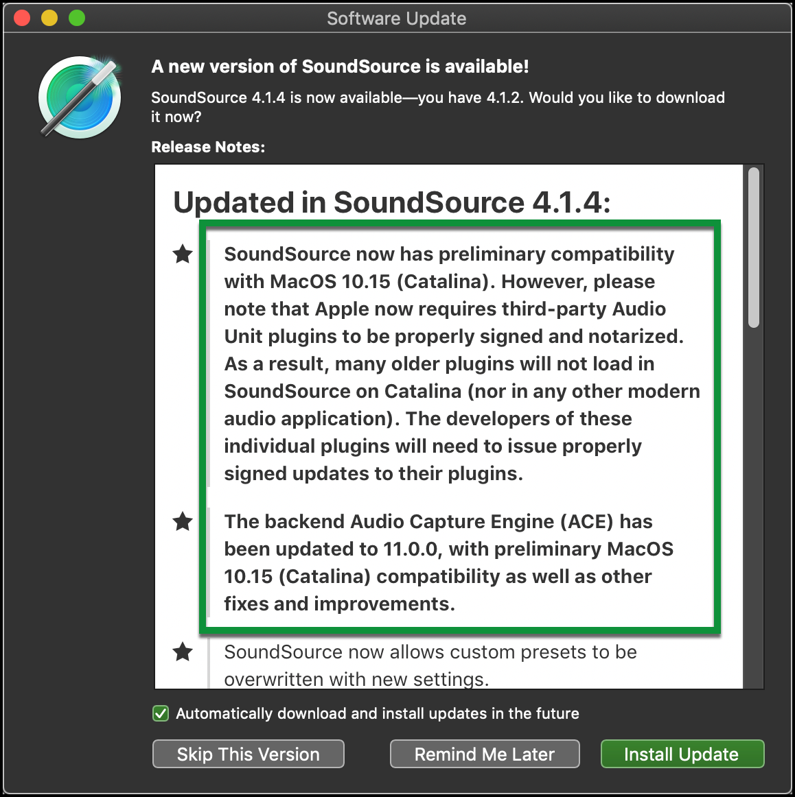 SoundSource Update