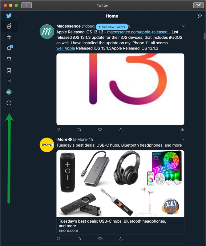 Twitter Main Window
