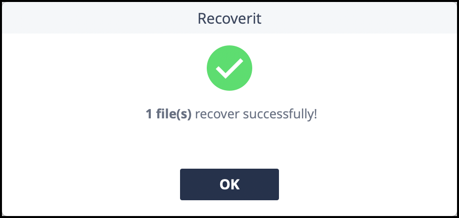 Recover Notice