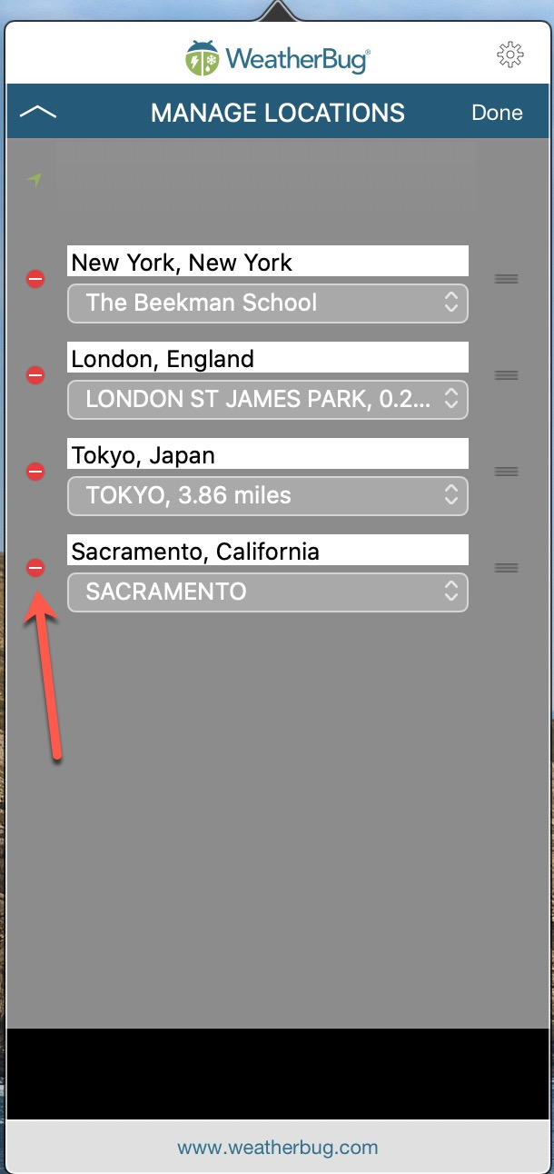 Edit Locations